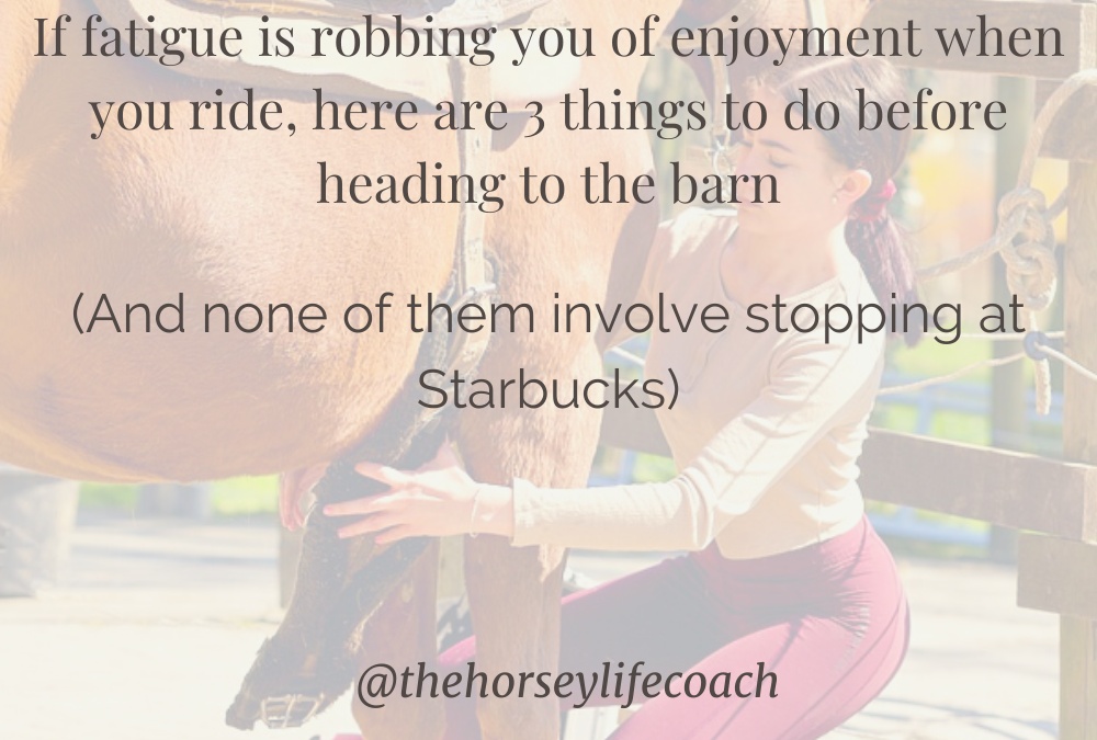 Always need a pick me up before you saddle up? If you have a hard time keeping your eyes open when you ride, here are 3 things to do before heading to the barn